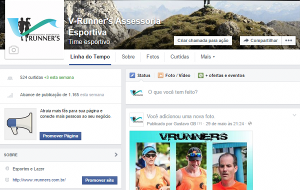 Facebook V'runners Treinamento Esportivo