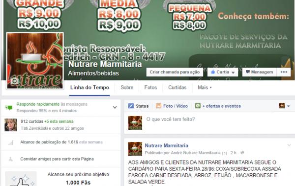 Facebook Nutrare Marmitaria
