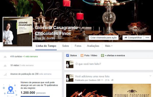 Facebook Giovana Casagrande