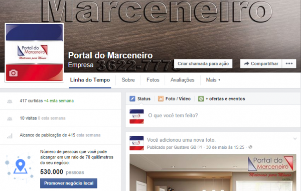 Facebook Portal do Marceneiro