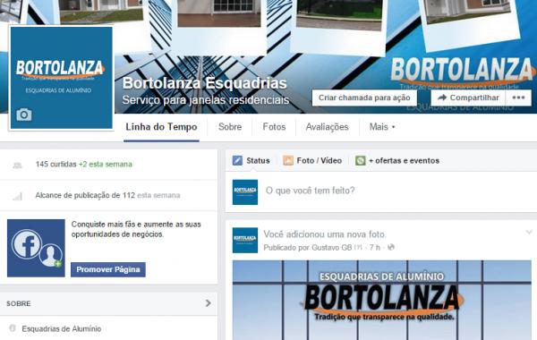 Facebook Bortolanza Esquadrias de Alumínio